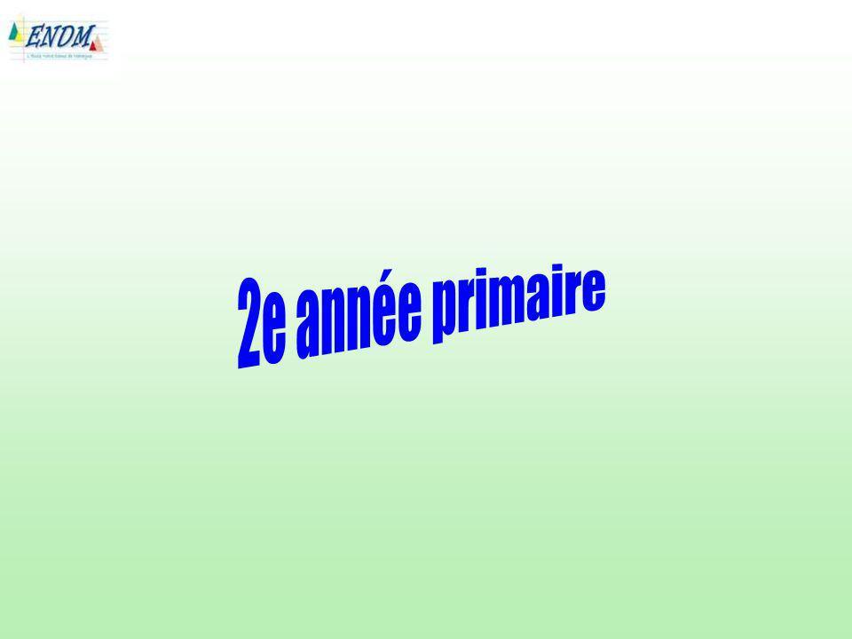 2e année primaire