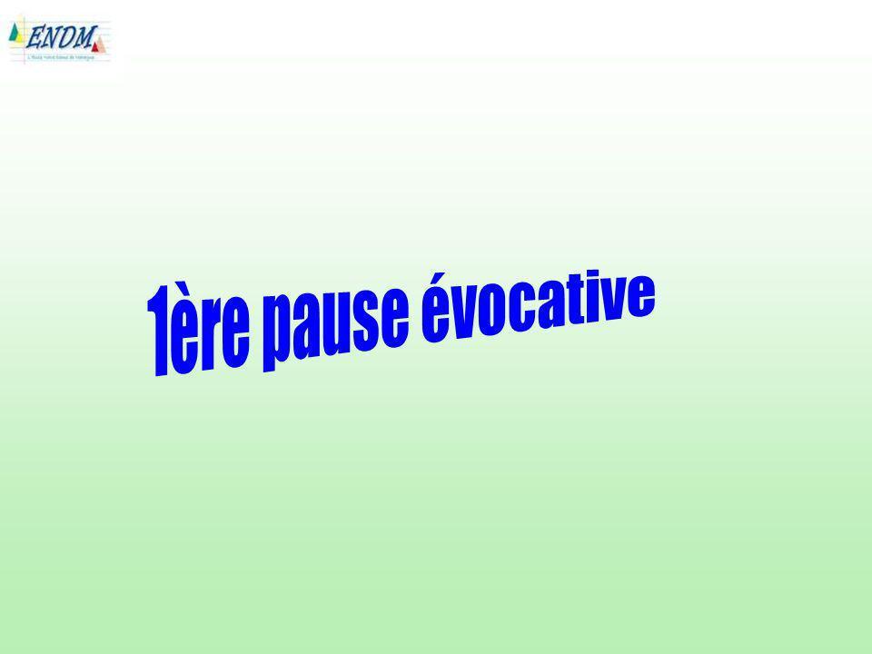 1ère pause évocative