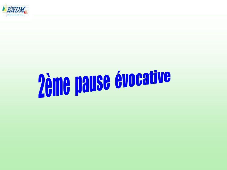 2ème pause évocative