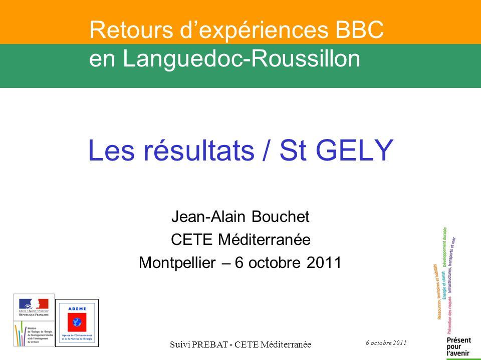 Jean-Alain Bouchet CETE Méditerranée Montpellier – 6 octobre 2011