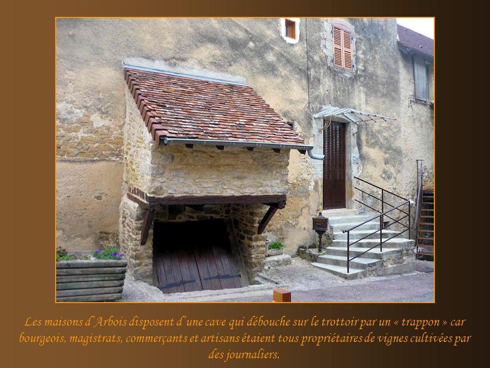 Les maisons d'Arbois disposent d'une cave qui débouche sur le trottoir par un « trappon » car bourgeois, magistrats, commerçants et artisans étaient tous propriétaires de vignes cultivées par des journaliers.