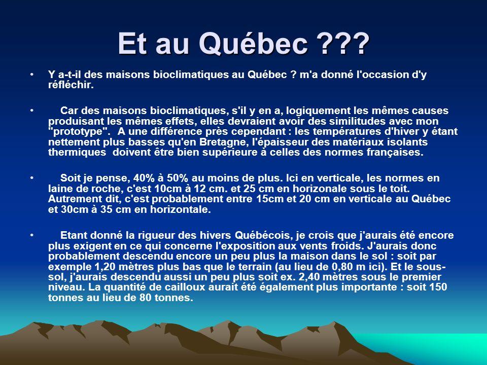 Et au Québec Y a-t-il des maisons bioclimatiques au Québec m a donné l occasion d y réfléchir.