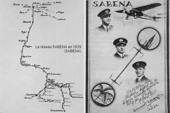 Le réseau SABENA en 1939 (SABENA)