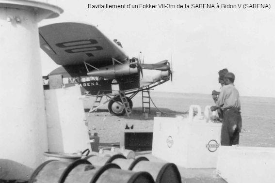 Ravitaillement d'un Fokker VII-3m de la SABENA à Bidon V (SABENA)