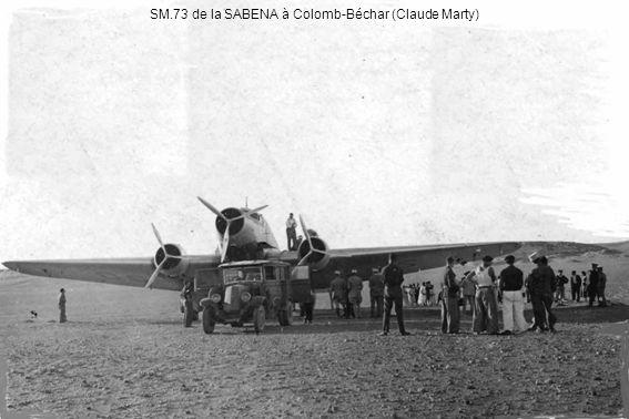 SM.73 de la SABENA à Colomb-Béchar (Claude Marty)