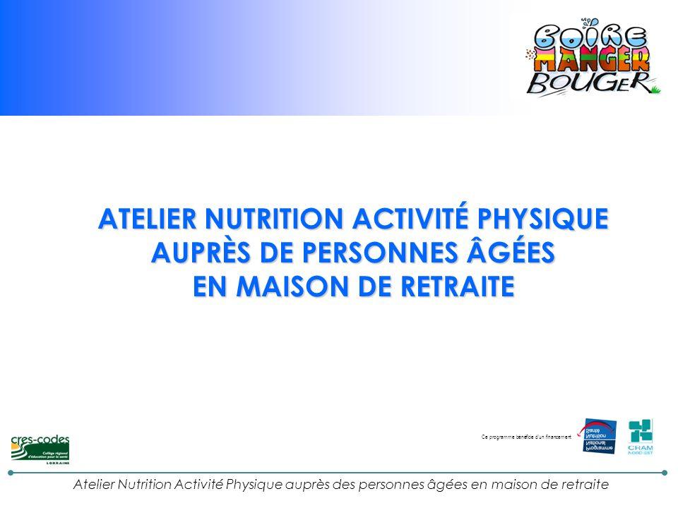 ATELIER NUTRITION ACTIVITÉ PHYSIQUE