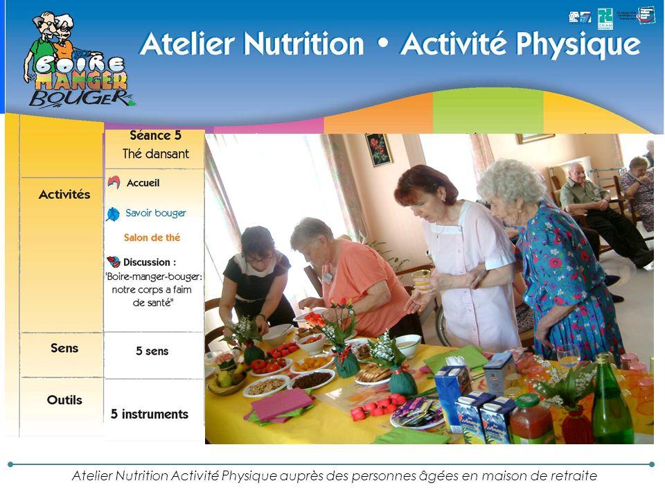 Atelier Nutrition Activité Physique auprès des personnes âgées en maison de retraite