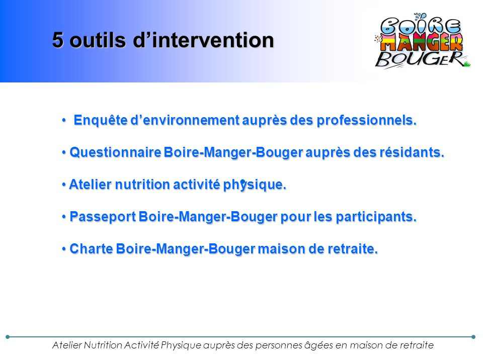 5 outils d'intervention