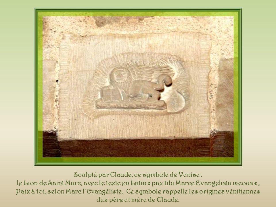 Sculpté par Claude, ce symbole de Venise :
