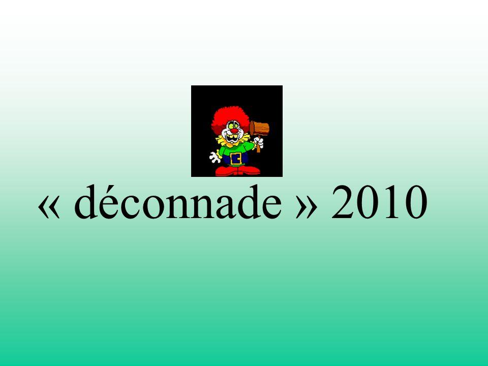 « déconnade » 2010