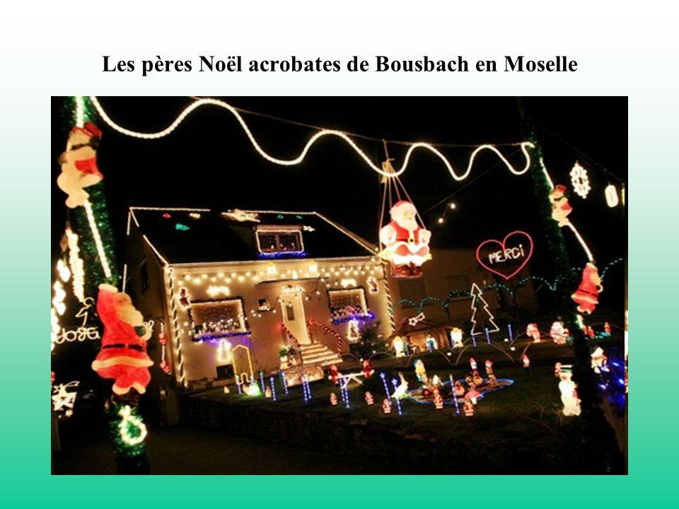 Les pères Noël acrobates de Bousbach en Moselle