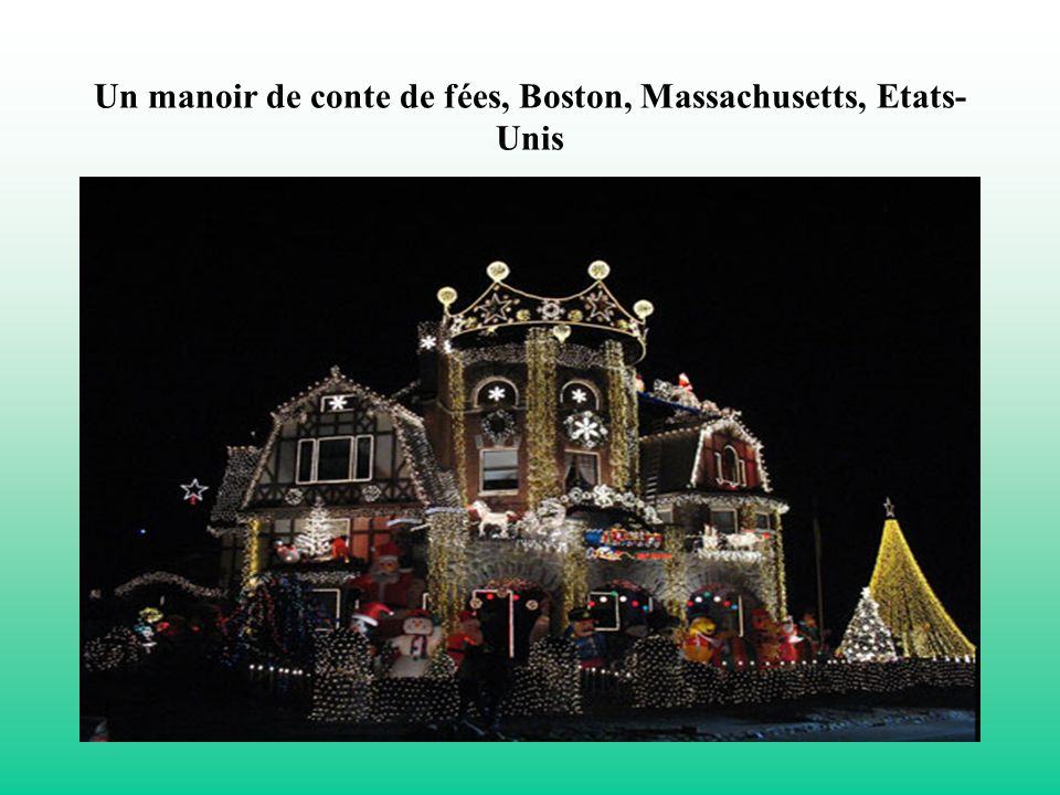 Un manoir de conte de fées, Boston, Massachusetts, Etats-Unis