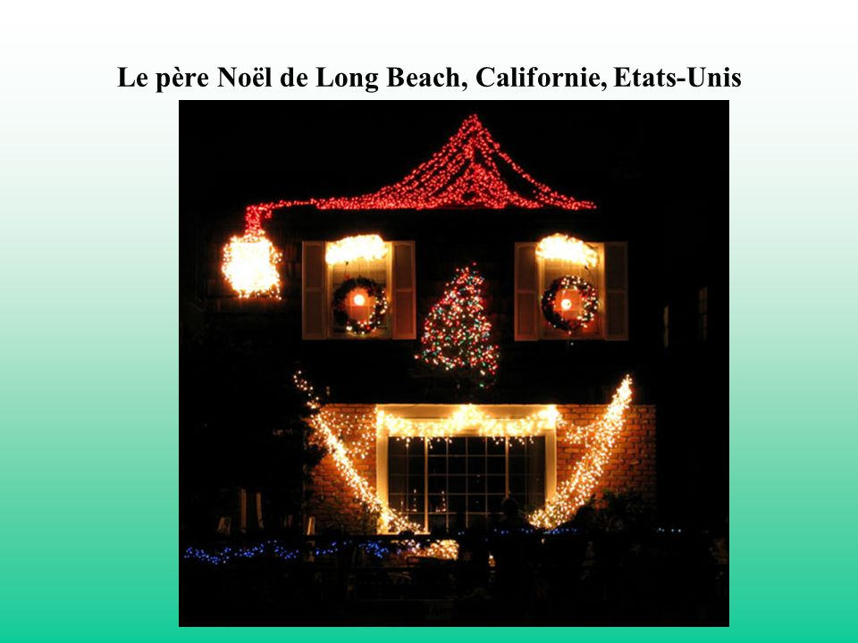 Le père Noël de Long Beach, Californie, Etats-Unis