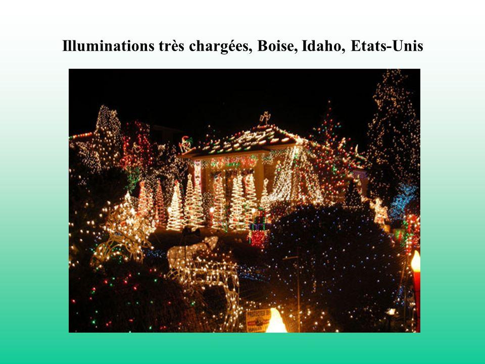 Illuminations très chargées, Boise, Idaho, Etats-Unis