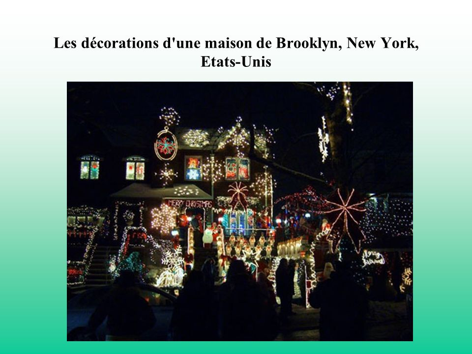 Les décorations d une maison de Brooklyn, New York, Etats-Unis