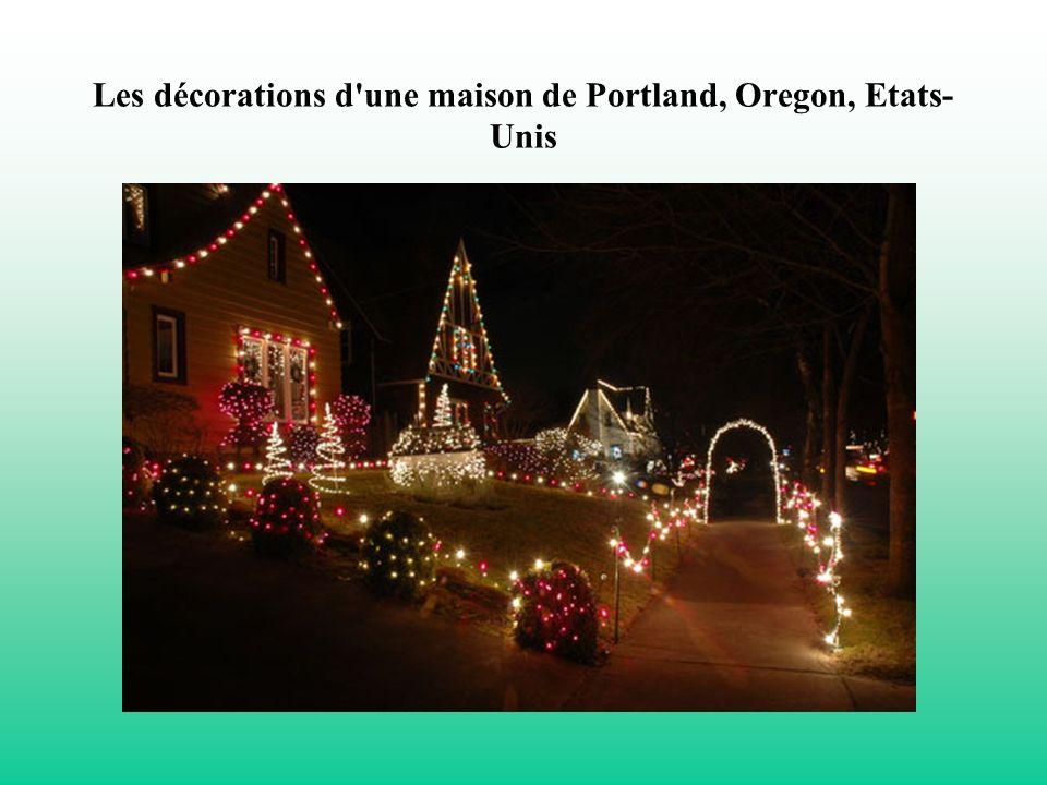 Les décorations d une maison de Portland, Oregon, Etats-Unis