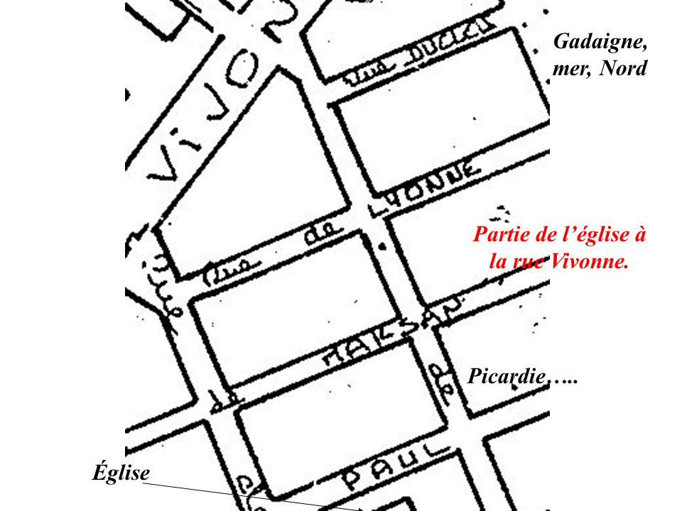 Partie de l'église à la rue Vivonne.