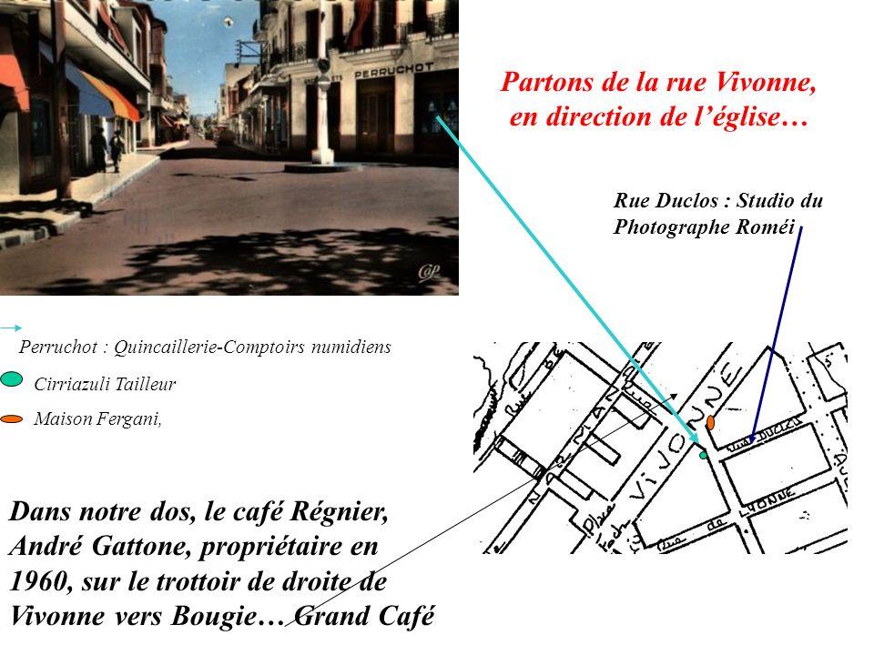Partons de la rue Vivonne, en direction de l'église…