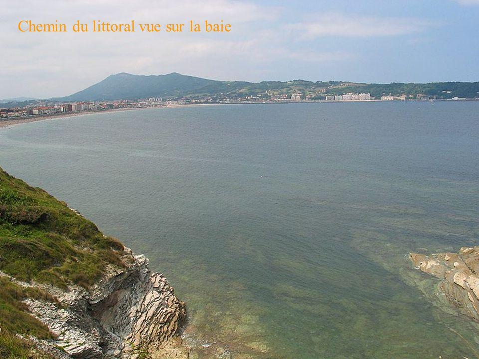Chemin du littoral vue sur la baie
