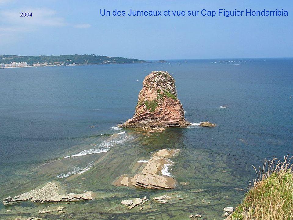 Un des Jumeaux et vue sur Cap Figuier Hondarribia
