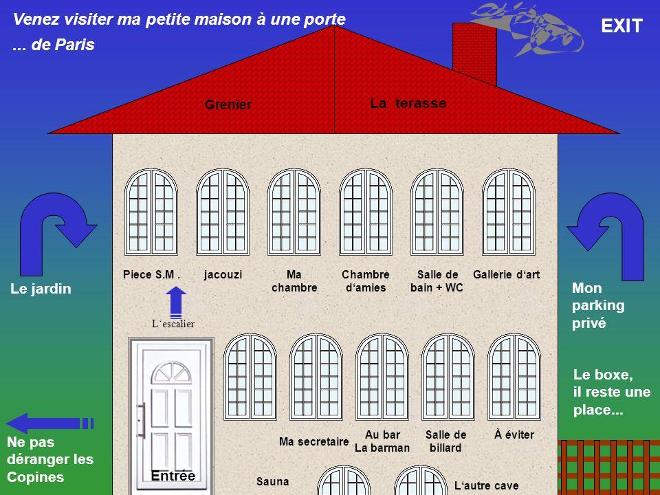 EXIT Venez visiter ma petite maison à une porte ... de Paris
