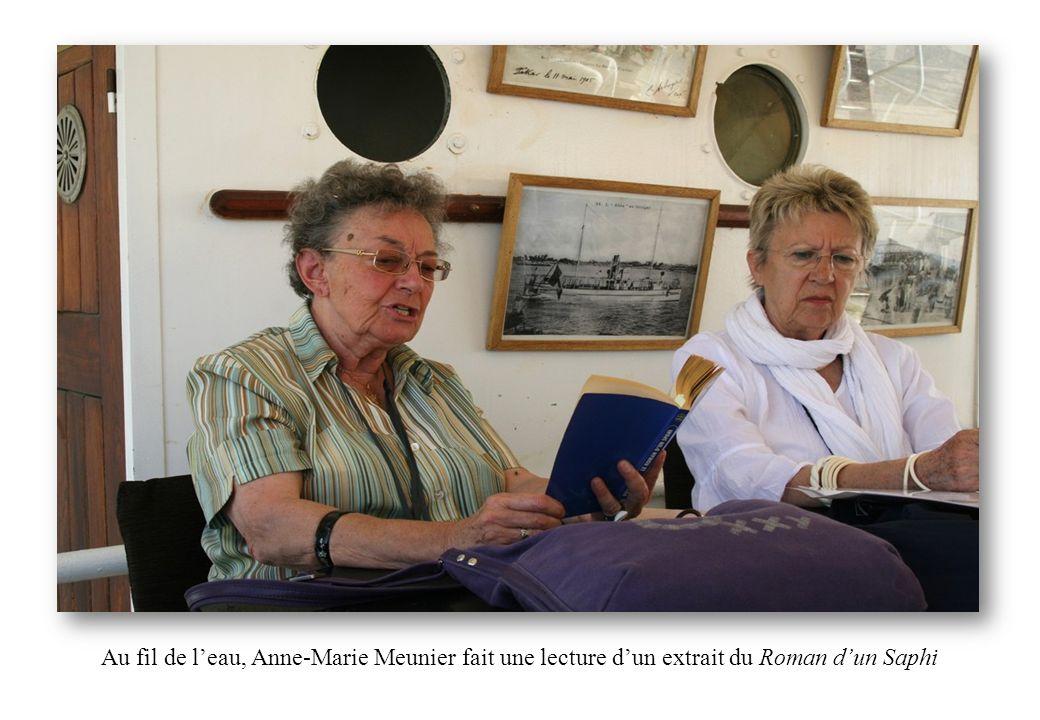 Au fil de l'eau, Anne-Marie Meunier fait une lecture d'un extrait du Roman d'un Saphi