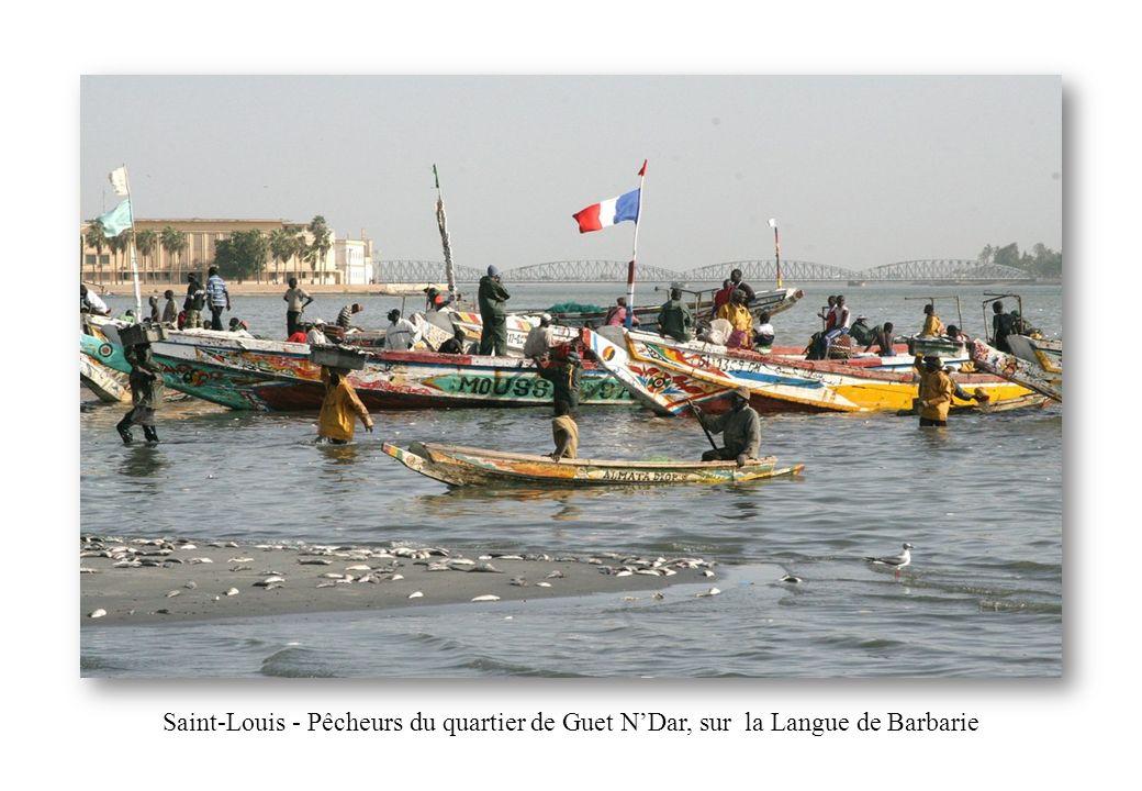 Saint-Louis - Pêcheurs du quartier de Guet N'Dar, sur la Langue de Barbarie