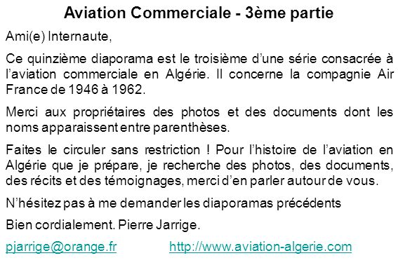 Aviation Commerciale - 3ème partie