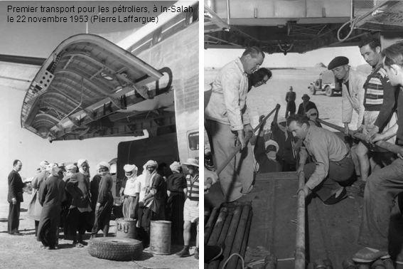 Premier transport pour les pétroliers, à In-Salah le 22 novembre 1953 (Pierre Laffargue)