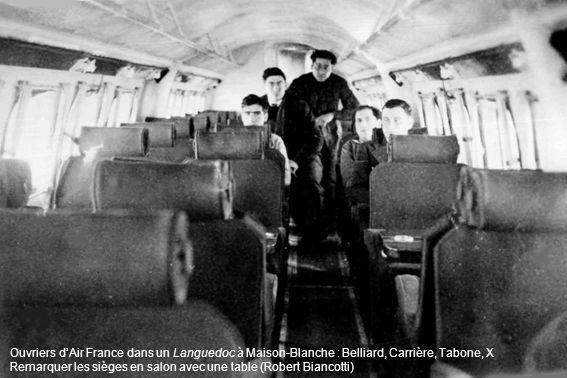 Ouvriers d'Air France dans un Languedoc à Maison-Blanche : Belliard, Carrière, Tabone, X