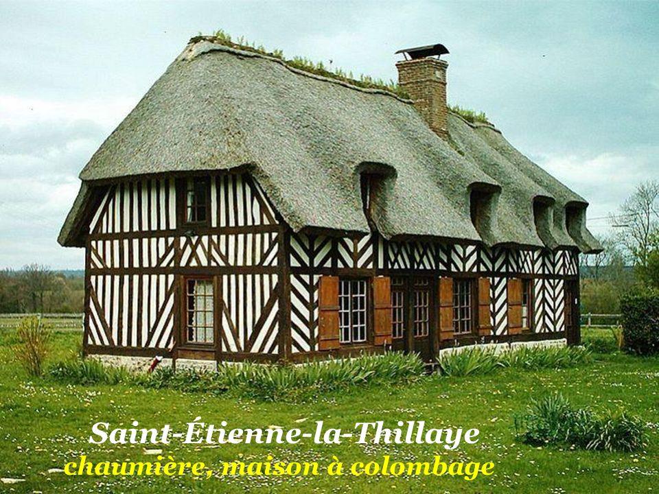 Saint-Étienne-la-Thillaye chaumière, maison à colombage