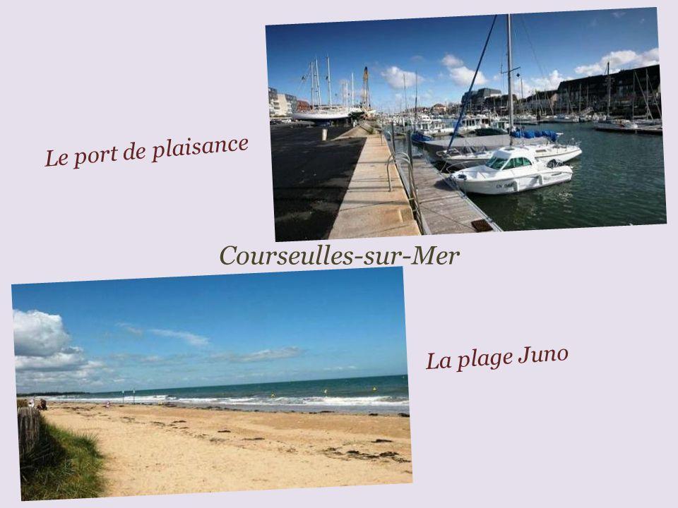 Le port de plaisance Courseulles-sur-Mer La plage Juno