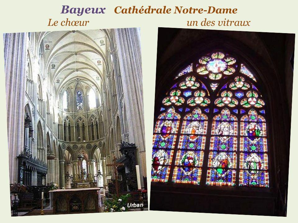 Bayeux Cathédrale Notre-Dame Le chœur un des vitraux
