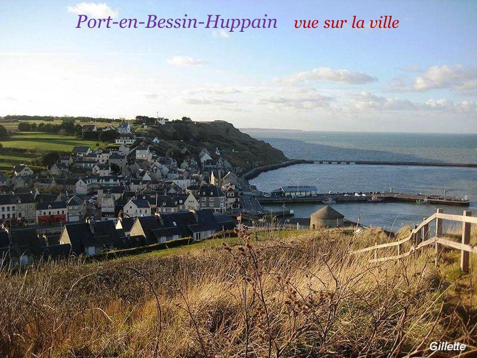 Port-en-Bessin-Huppain vue sur la ville