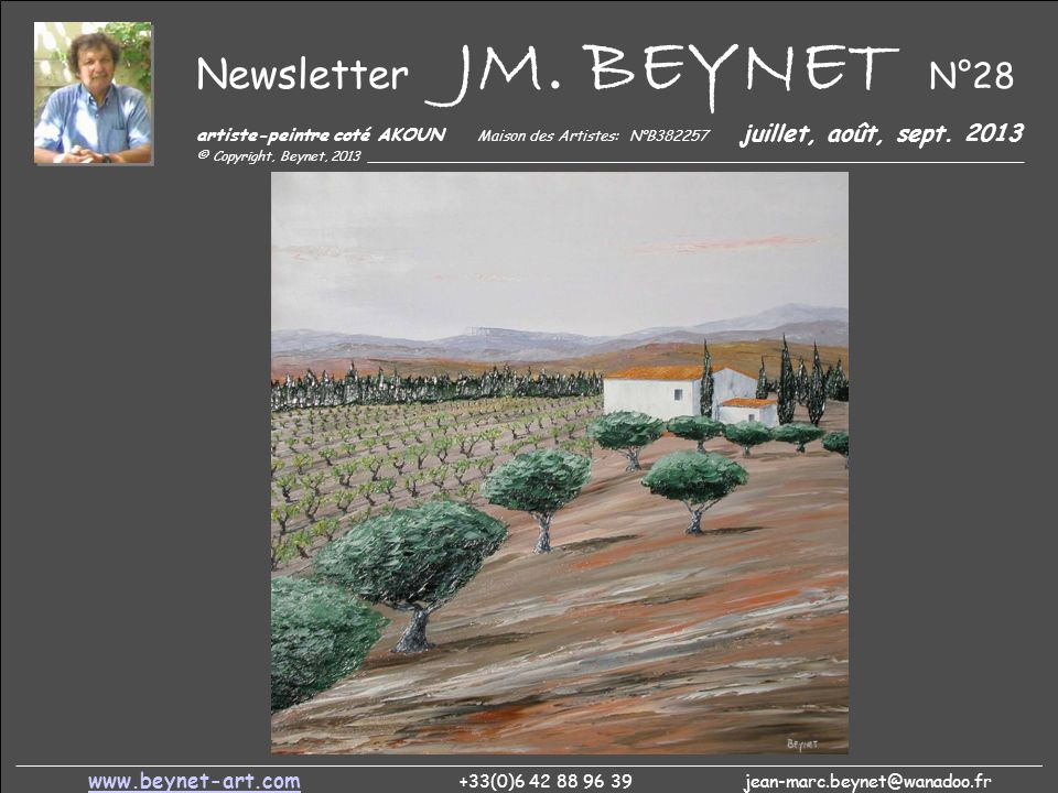 Newsletter JM. BEYNET N°28