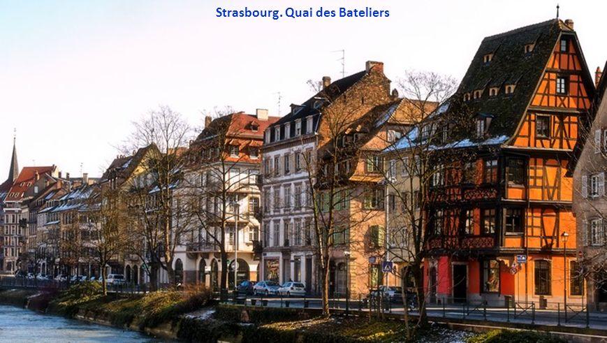 Strasbourg. Quai des Bateliers