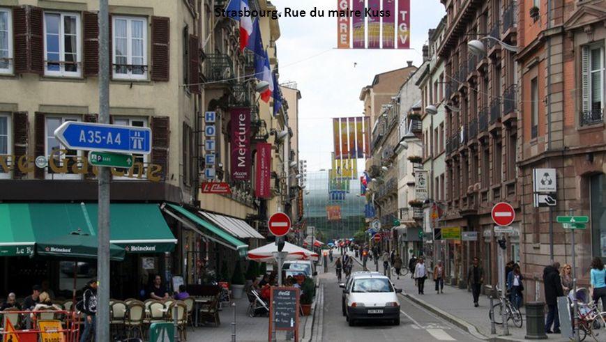 Strasbourg. Rue du maire Kuss