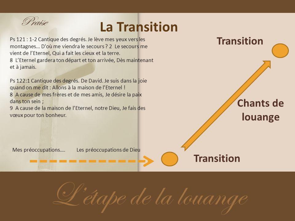 L'étape de la louange La Transition Praise Transition