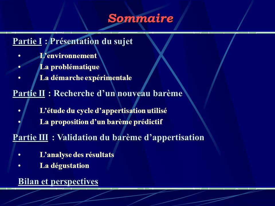 Sommaire Partie I : Présentation du sujet