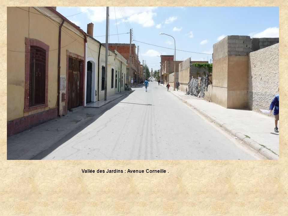 Vallée des Jardins : Avenue Corneille .
