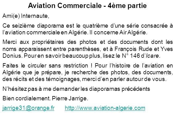 Aviation Commerciale - 4ème partie