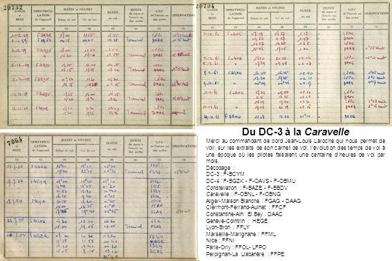 Du DC-3 à la Caravelle