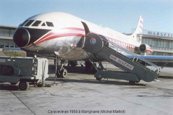 Caravelle en 1958 à Marignane (Michel Maitrot)