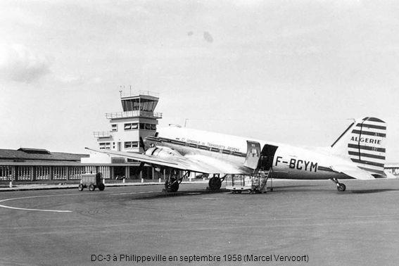 DC-3 à Philippeville en septembre 1958 (Marcel Vervoort)