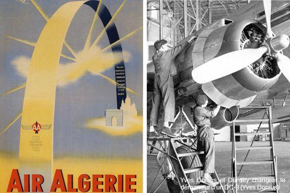 Yves Donius et Durdilly changent le démarreur d'un DC-3 (Yves Donius)