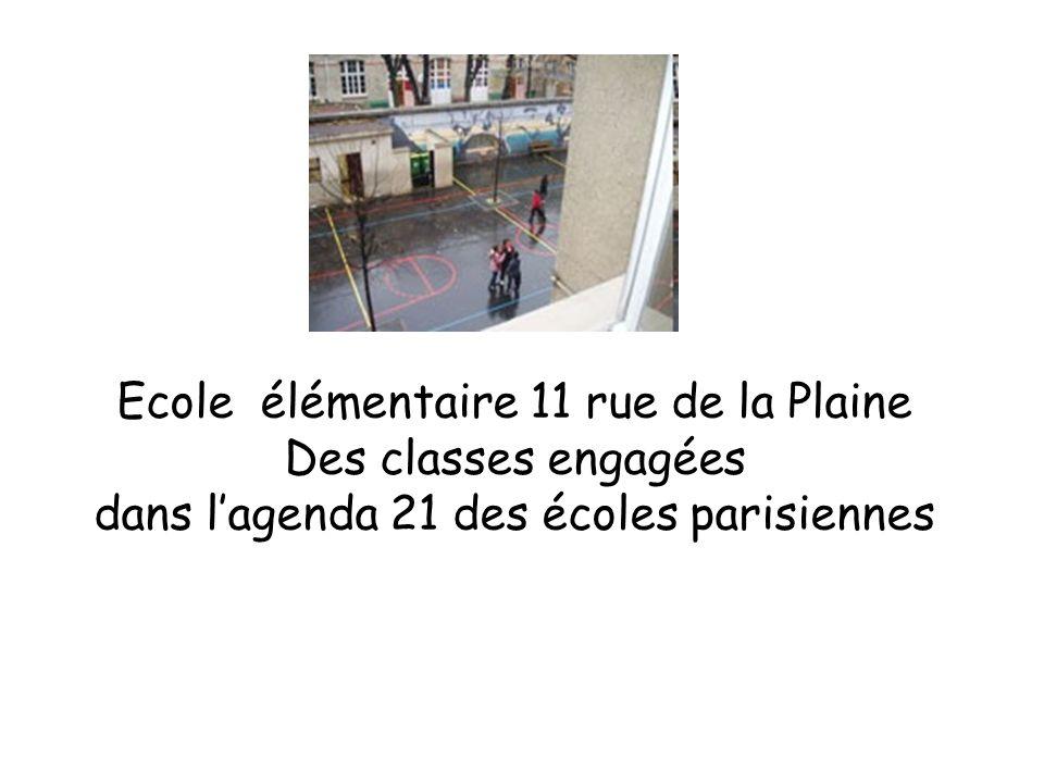 Ecole élémentaire 11 rue de la Plaine Des classes engagées