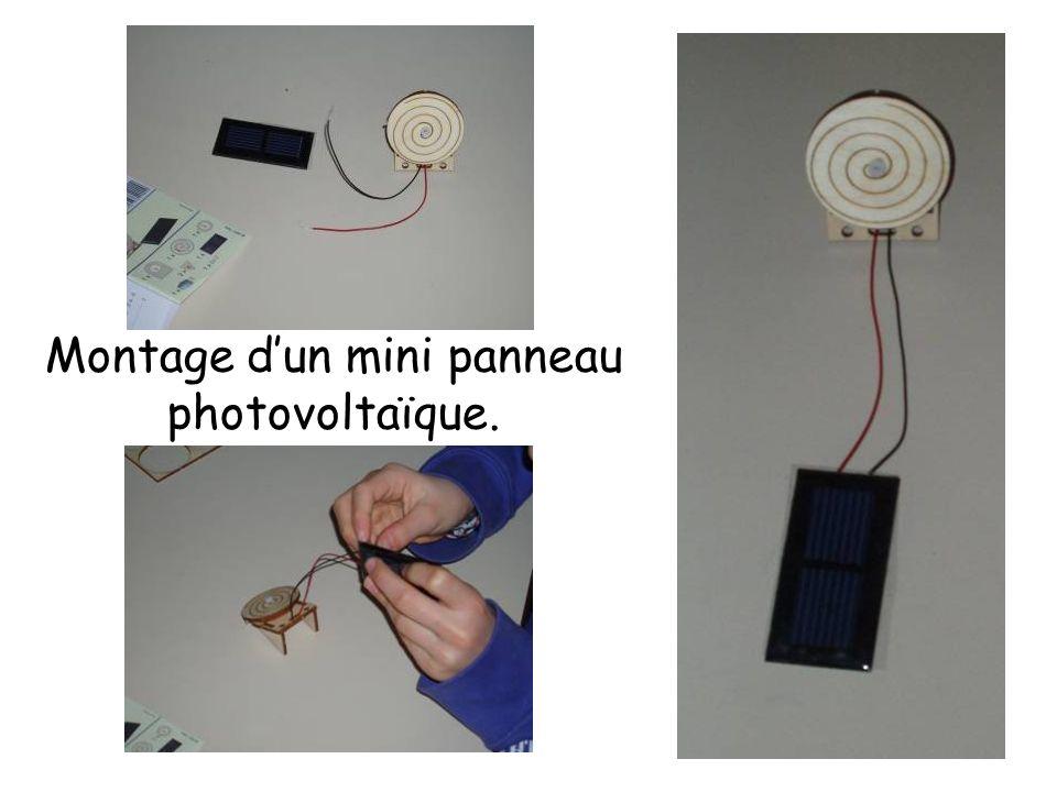 Montage d'un mini panneau photovoltaïque.