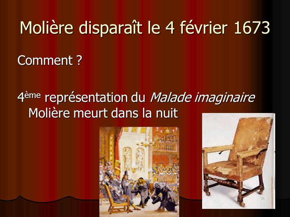 Molière disparaît le 4 février 1673
