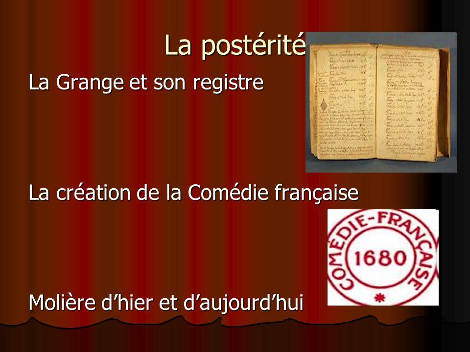 La postérité La Grange et son registre