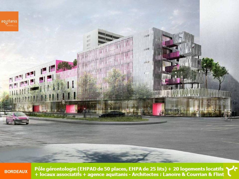 Pôle gérontologie (EHPAD de 50 places, EHPA de 25 lits) + 20 logements locatifs